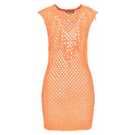 MYMO Plážové šaty svítivě oranžová