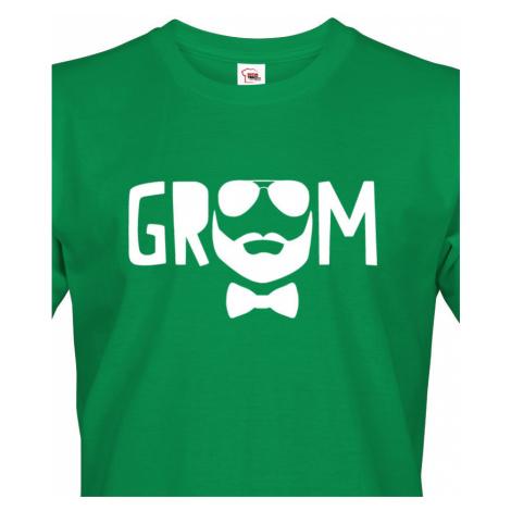 Pánské tričko pro ženicha Groom - ideální tričko na rozlučku BezvaTriko