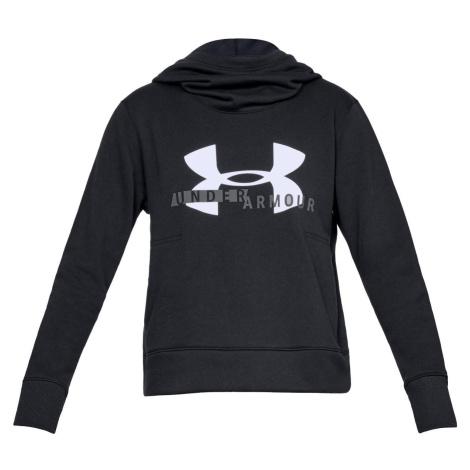 Dámská mikina Under Armour Fleece Sportstyle Logo Hoodie Černá / Bílá