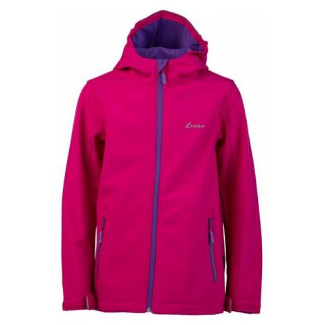 Lewro OWEN růžová - Dětská softshellová bunda