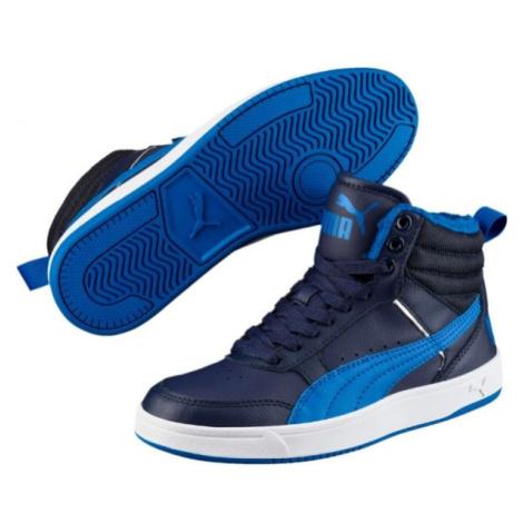 Puma REBOUND STREET V2 FUR JR modrá - Dětská zimní obuv