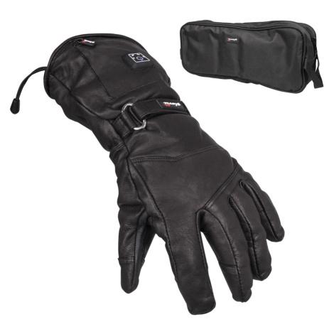 Kožené Vyhřívané Lyžařské A Moto Rukavice Glovii Gs5 Černá