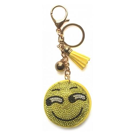 Žlutý přívěšek se střapcem a křišťály Nessa Lulu Bags