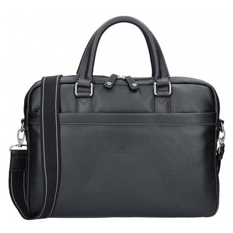 Pánská kožená taška přes rameno Hexagona Moet - černá