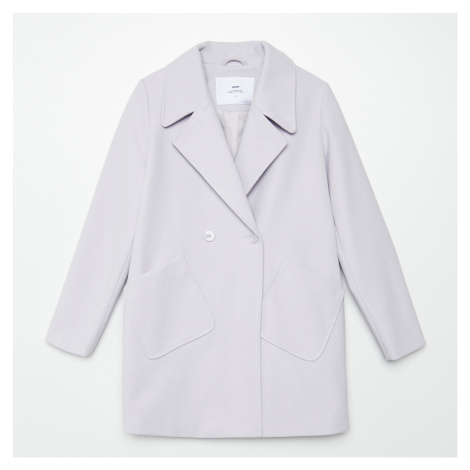 Cropp - Dvouřadý kabát oversized - Fialová