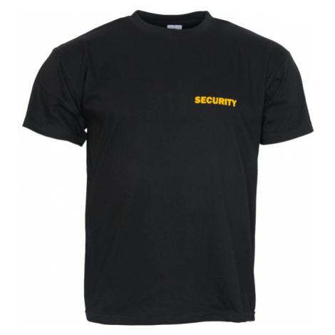 AS Print Tričko SECURITY s nápisem černé