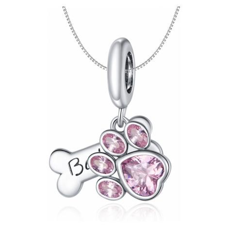 Linda's Jewelry Stříbrný náhrdelník Ťapka Ag 925/1000 INH100