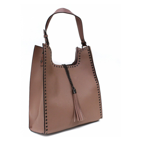Růžový dámský kabelkový set 2v1 Karoline Mahel