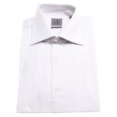 Calvin Klein pánská bílo-šedá košile