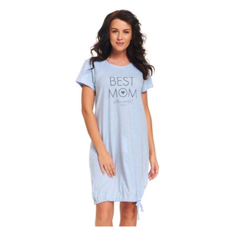 Mateřská noční košile Best mom světle modrá