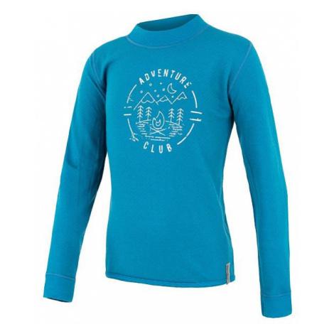 Dětské tričko SENSOR Merino DF Club dl. rukáv modrá