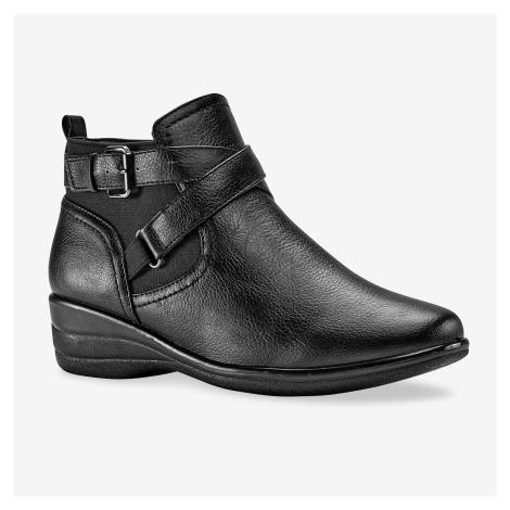 Blancheporte Kotníkové boty na podpatku černá
