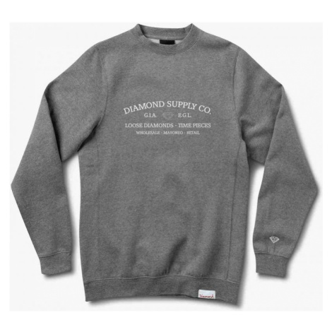 MIKINA DIAMOND TIME PIECE CREWNECK - šedá Diamond Supply Co.