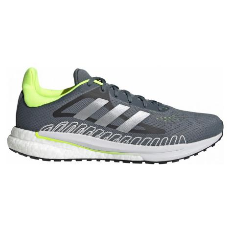Běžecká obuv adidas SOLAR GLIDE ST 3 Šedá / Zelená