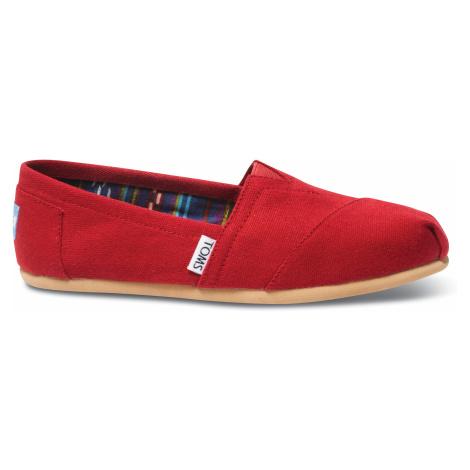 Dámské červené TOMS Core Classics Alpargata