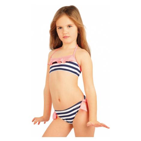 Dívčí dvojdílné plavky Litex - modro-bílá