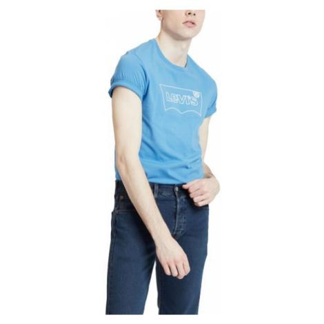 Levi's HOUSEMARK GRAPHIC TEE modrá - Pánské tričko Levi´s
