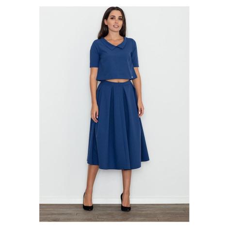 FIGL Set crop top + dlouhá sukně M579 Navy