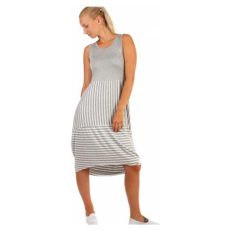Dlouhé letní šaty s proužky