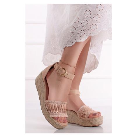 Béžové platformové sandály Flavia Ideal