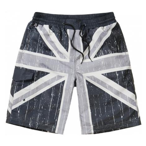 Brandit Kalhoty krátké koupací Swimshorts černé | šedé