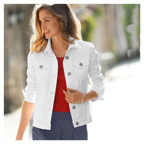 Blancheporte Džínová bunda v opraném vzhledu bílá