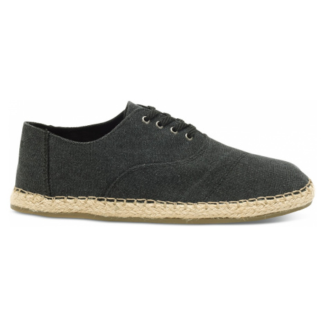 Black Washed Canvas Men's Caminos Toms