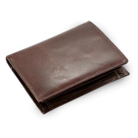 Tmavě hnědá pánská kožená peněženka a dokladovka Kaden Arwel