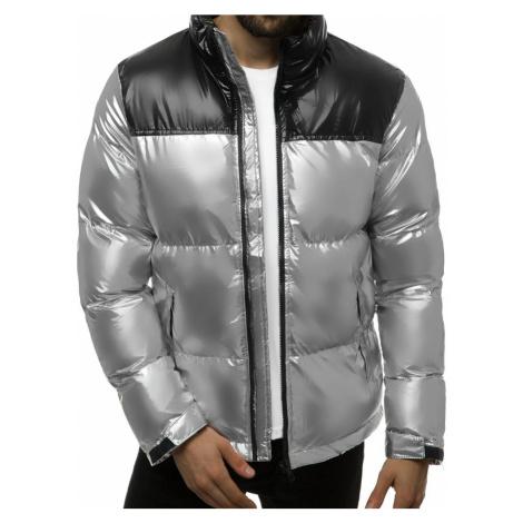 Stylová zimní bunda ve stříbrné barvě JB/JP1188/2
