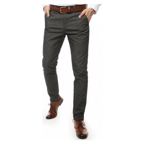 Společenské kalhoty šedá se vzorem UX2452 BASIC