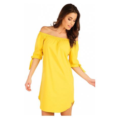 LITEX Šaty dámské s krátkým rukávem 5A090103 citrónová