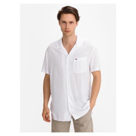 Solid Camp Košile Tommy Jeans Bílá Tommy Hilfiger
