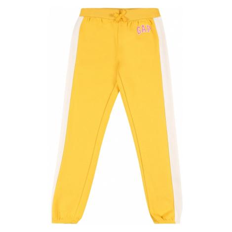 GAP Kalhoty šafrán / pastelově žlutá / pink