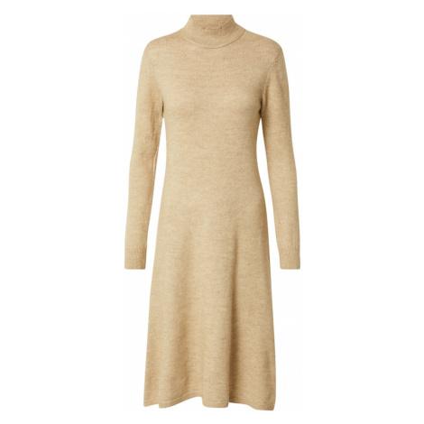 DeFacto Úpletové šaty světle béžová