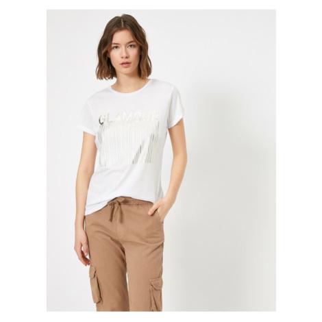 Koton Women's White T-shirt