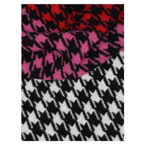 Zwillingsherz Látková rouška barva bílé vlny / světle šedá / červená / pink