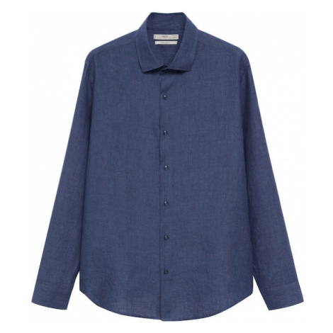MANGO MAN Košile 'PARROT' marine modrá