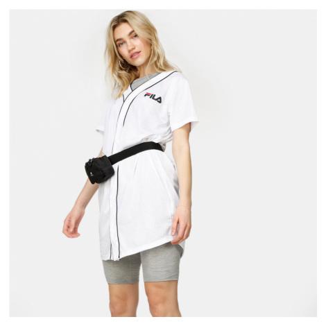 Bílé šaty Robin Button Baseball Fila