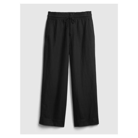GAP černé kalhoty hr linen wide leg