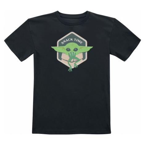 Star Wars The Mandalorian - Snack Time - Grogu detské tricko černá