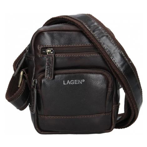 Pánská kožená taška přes rameno Lagen Polen - hnědá