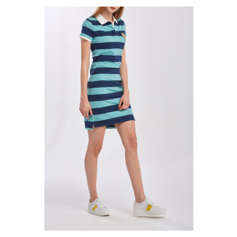 ŠATY GANT D2. SUMMER STRIPE SS RUGGER DRESS