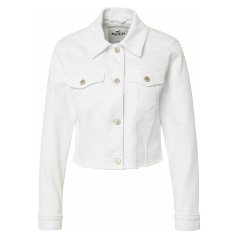 HOLLISTER Přechodná bunda bílá