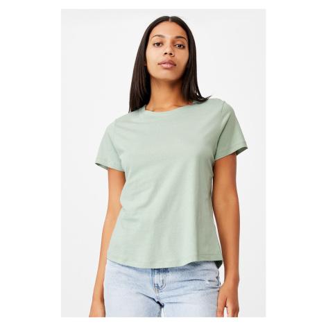 Dámské basic triko s krátkým rukávem Crew zelená Cotton On