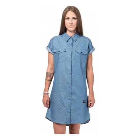 Horsefeathers KARLEE DRESS modrá - Dámské šaty