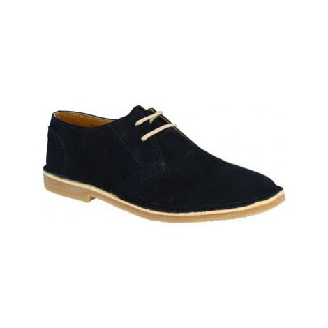 Leonardo Shoes 127 CAMOSCIO BLU Modrá