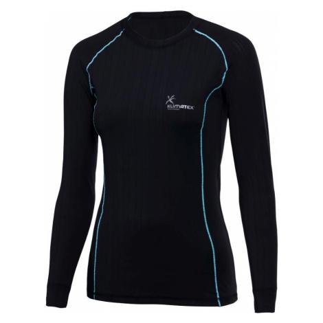 Dámské tričko Klimatex Silk Touch JOLANA Černá / Tyrkysová
