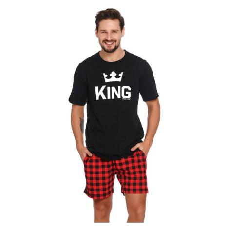 Krátké pánské pyžamo King černé