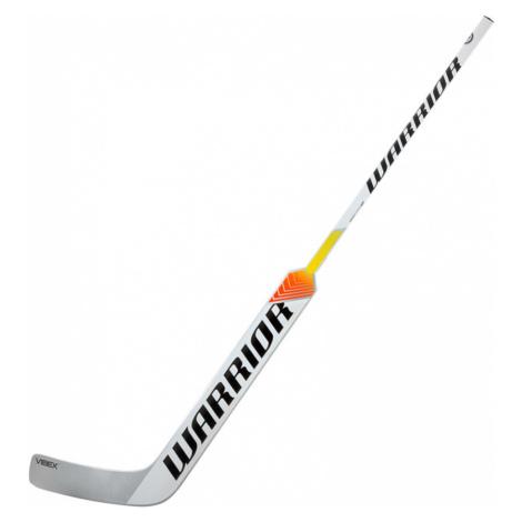 Brankářská hokejka Warrior Ritual V1 SR stříbrno-bílo-modrá L (normální gard) 27 palců
