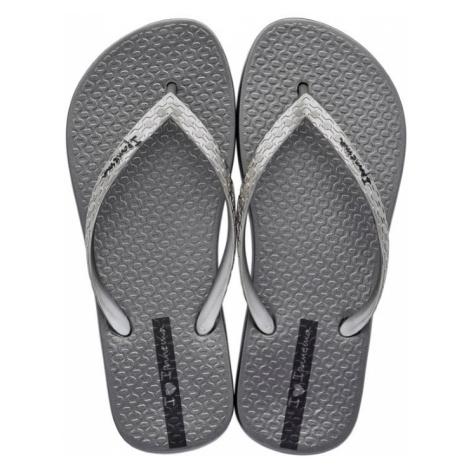 Ipanema šedo-stříbrné žabky Glam Fem Silver